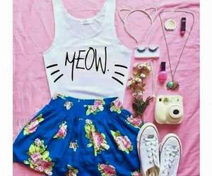 fashion, outfit, and meow image