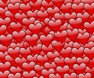 heart, emoji, and hearts image