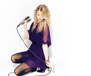 purple and Taylor Swift image