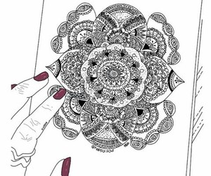 art, nails, and outlines image
