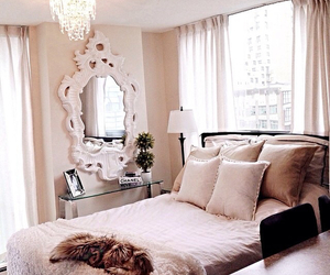 bedroom, elegant, and fancy image