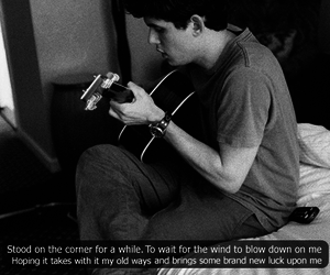 black and white, guitar, and john mayer image