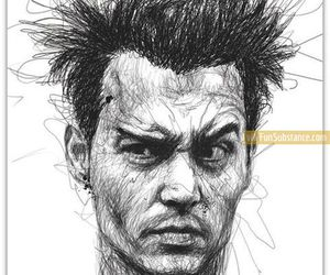awesome, depp, and drawing image