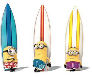 minions, surf, and wallpaper image