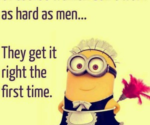 minions, funny, and woman image