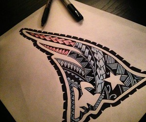 football, tribal, and patriots image
