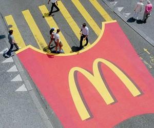 street, McDonalds, and mc donalds image