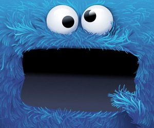blue, monster, and cookie monster image