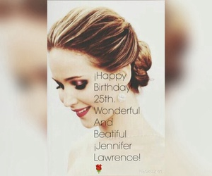 birthday, funny, and Jennifer Lawrence image