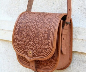 bag, brown, and style image