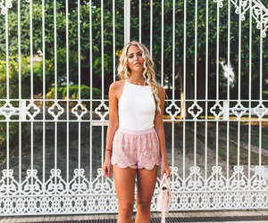janni deler, beachwear, and blonde hair image