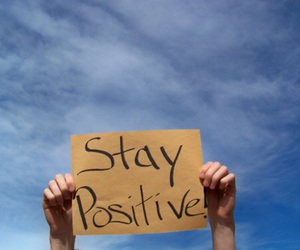 blue, positive, and sky image