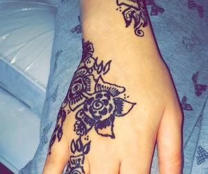 art, henna, and black henna image