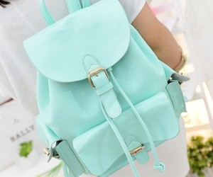 fashion, bag, and blue image