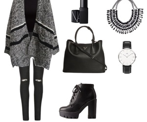autumn, black&white, and clothes image