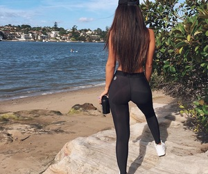 beauty, booty, and long hair image