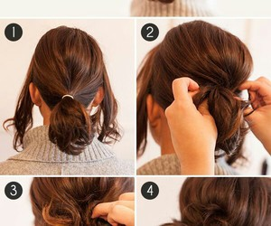 girl, hairstyle, and tutorial image