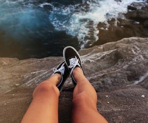 vans, sea, and legs image