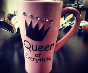 Queen, pink, and cup image