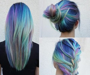 colour, grunge, and hair image