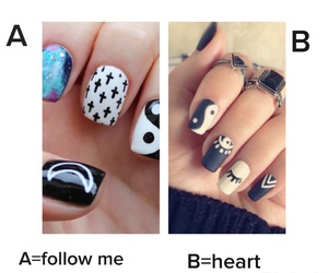 nails, follow, and heart image