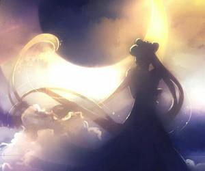sailor moon, anime, and moon image