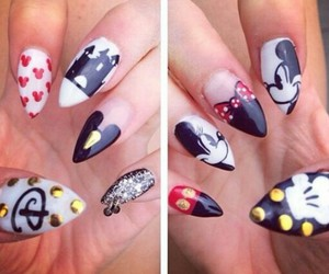 nails, disney, and mickey mouse image