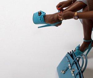 girl, heels, and bag image