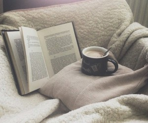 winter, read, and love books image