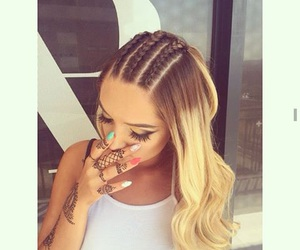 girl, braid, and hairstyle image