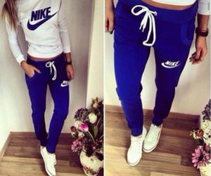 nike, blue, and outfit image