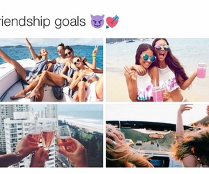 goals, friendship, and friends image