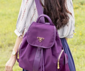 backpack, fashion, and girl image