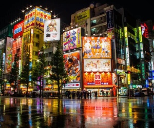 anime, lights, and night image