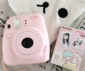 pink, kawaii, and camera image