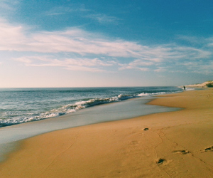 Atlantic, blue sky, and beach image
