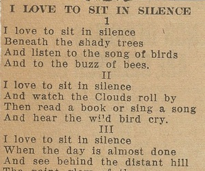 silence and poem image