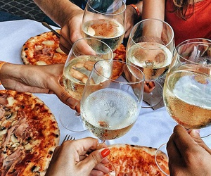 food, pizza, and party image
