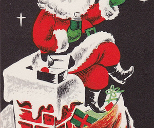 card, chimney, and vintage image