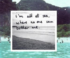 sea, quote, and beach image
