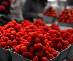 raspberry, food, and fruit image