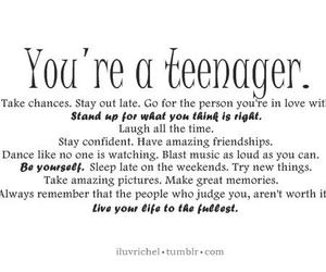 quotes and teenager image