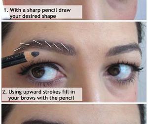 makeup, tutorial, and eyebrows image