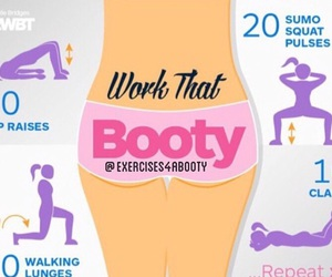 body, booty, and fitness image