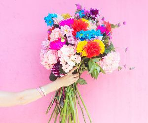 bouquet, colorful, and bright image