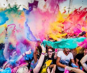 colourful, festival, and sziget image
