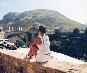 girl and mostar image