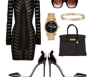 Balmain, dress, and outfit image