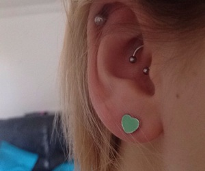 earring, Piercings, and rook image