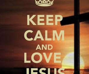 Christianity, god, and keep calm image